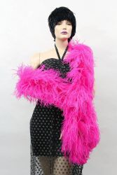 Ostrich Boa Dance Sport hothotpink by meter