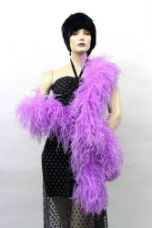Ostrich Boa Dance Sport purple by meter