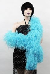 Ostrich Boa Dance Sport turquoise by meter