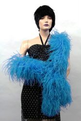 Ostrich Boa Dance Sport dark turquoise by meter