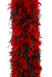 Chandellenboa 1200F rot + 2-fach Strauß schwarz