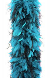 Chandelle Boa 1200F light turquoise + 2ply Ostrich black
