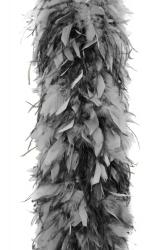 Chandellenboa 1200F hellgrau + 2-fach Strauß schwarz