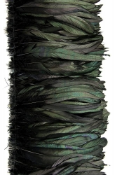Coque Tails 25-30cm Black Bronce, Strung Rowed