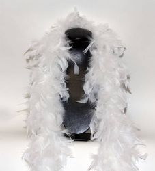 Feather Boa 200F white, 1.8m long