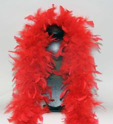 Feather Boa 200F red, 1.8m long