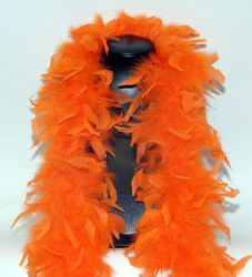 Feather Boa 200F orange, 1.8m long