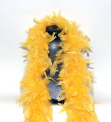 Feather Boa 200F yellow, 1.8m long