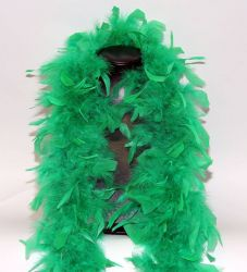Feather Boa 200F green, 1.8m long