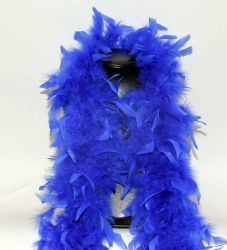 Feather Boa 200F blue, 1.8m long