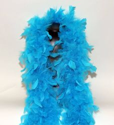 Feather Boa 200F turquoise, 1.8m long