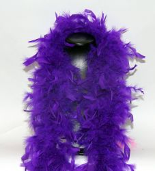 Feather Boa 200F purple, 1.8m long
