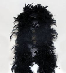 Feather Boa 200F black, 1.8m long