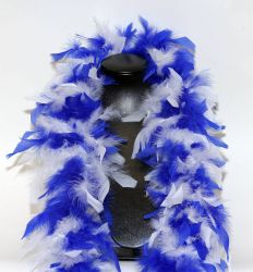 Feather Boa 200F blue-white mixed, 1.8m long