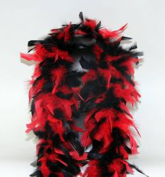 Feather Boa 200F red-black mixed, 1.8m long