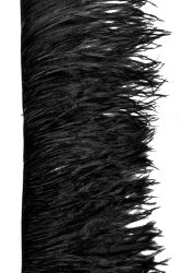 Ostrich Fringe 2ply long, black