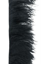 Ostrich Fringe 2ply middle, black