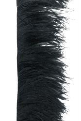 Straußenfranse 2-fach mittel, schwarz