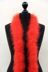 Marabou Boa 3ply red, 2m Piece