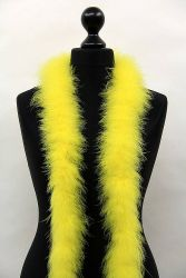 Marabou Boa 3ply yellow, 2m Piece