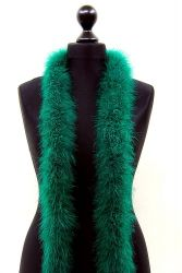 Marabou Boa 3ply green, 2m Piece