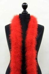 Marabou Boa 5ply red, 2.5m Piece