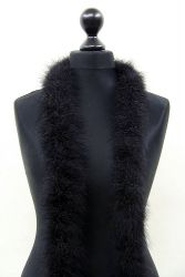 Marabou Boa 5ply black, 2.5m Piece