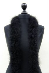 Marabou Boa 6ply black, 2.5m Piece