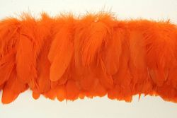 Cock Tails 10-15cm orange, Strung Rowed
