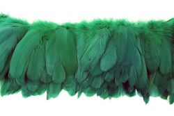Cock Tails 10-15cm green, Strung Rowed