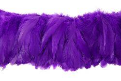 Cock Tails 10-15cm purple, Strung Rowed