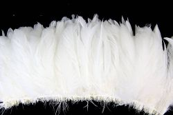 Cock Tails 15-20cm white, Strung Rowed