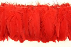 Cock Tails 15-20cm red, Strung Rowed