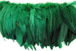 Cock Tails 15-20cm green, Strung Rowed