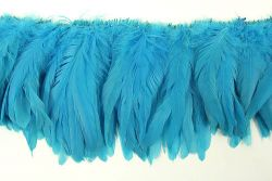 Cock Tails 15-20cm turquoise, Strung Rowed
